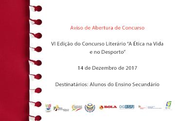 """Fundação do Desporto apoia VI Edição do Concurso Literário """"A Ética na Vida e no Desporto"""""""