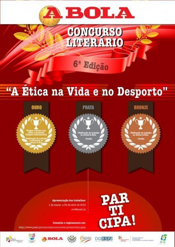"""VI Edição do Concurso Literário """"A Ética na Vida e no Desporto"""" tem o apoio da Fundação do Desporto"""