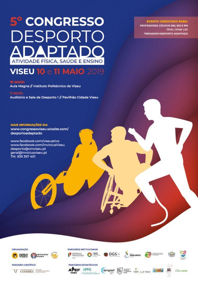 """5º Congresso """"Desporto Adaptado: Atividade Física, Saúde e Ensino"""" tem o apoio da Fundação do Desporto"""
