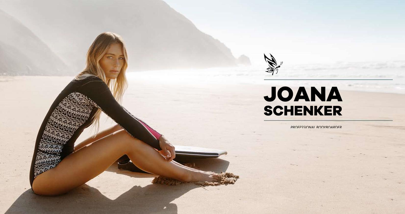 Joana Schenker: renovado o apoio à Campeã de Bodyboard
