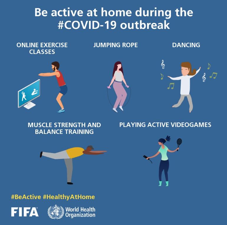 Campanha #BeActive da FIFA e OMS