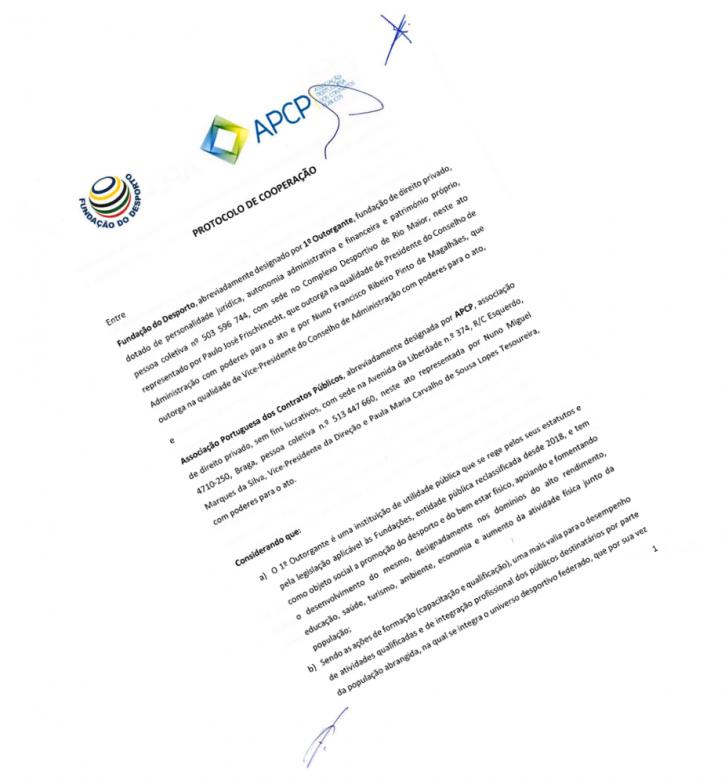 Fundação do Desporto celebra protocolo de cooperação com a APCP