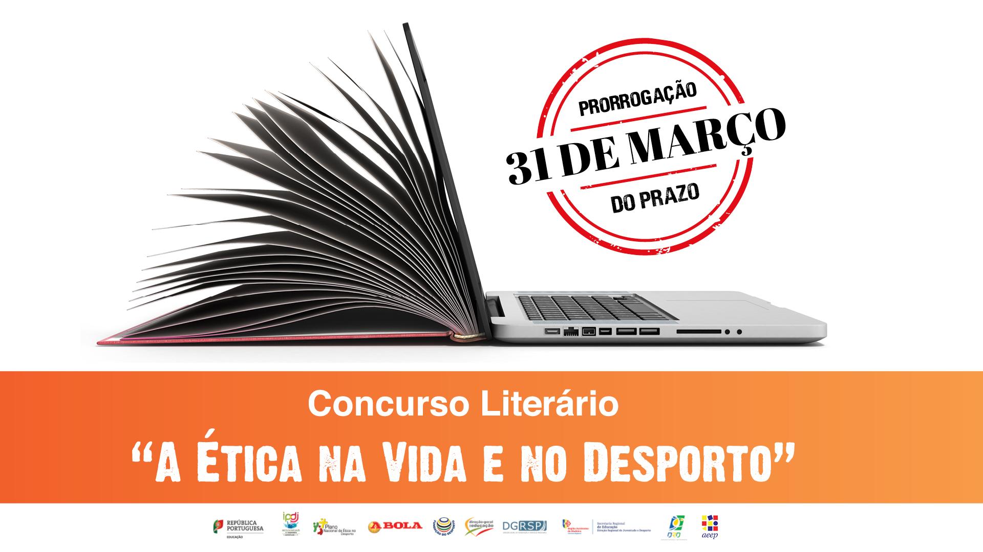 """Concurso literário """"A Ética na Vida e no Desporto"""" com prazo alargado"""