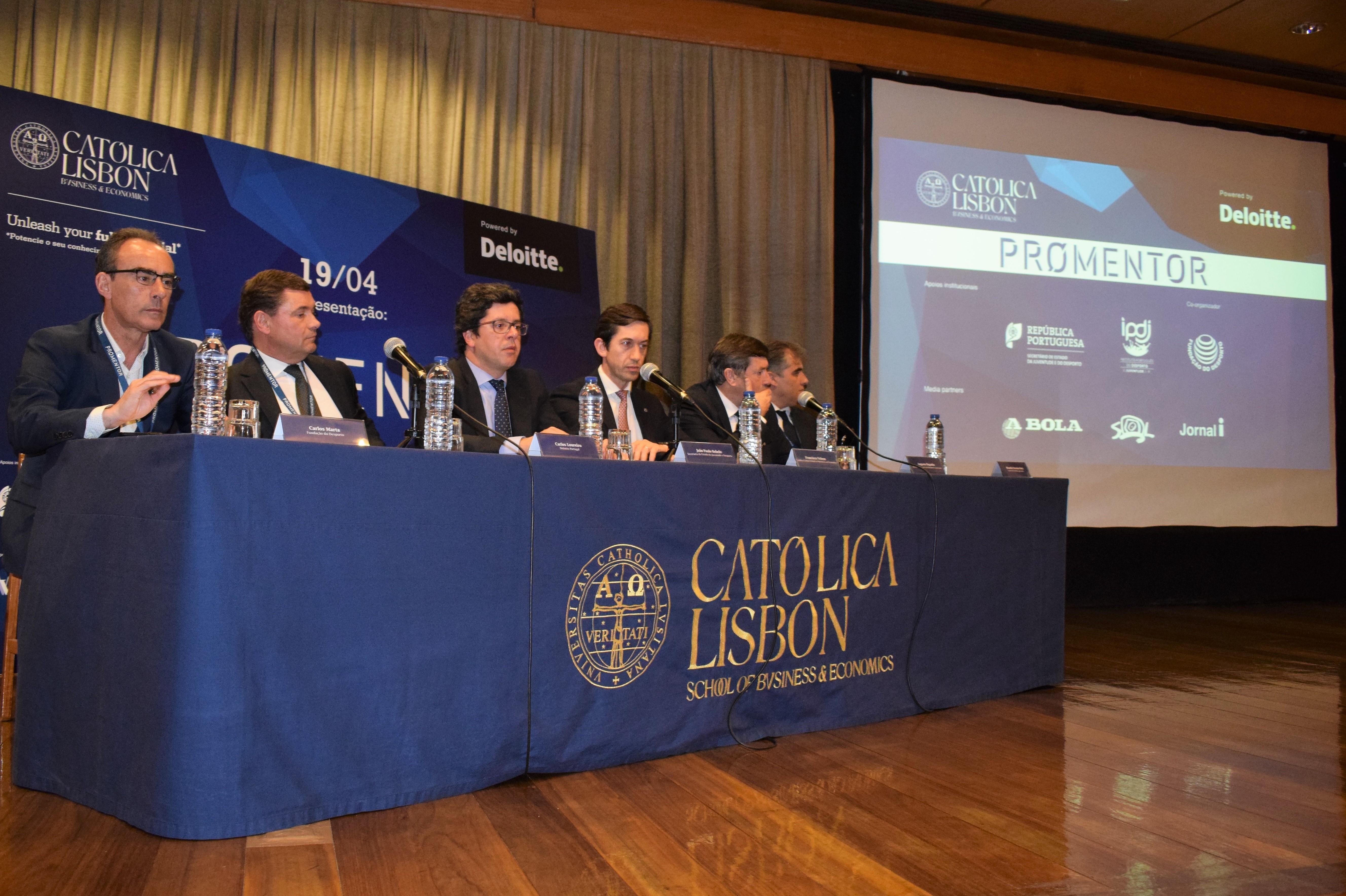 Fundação do Desporto, Católica Lisbon School of Business & Economics e Deloitte apresentam PROMENTOR DESPORTO