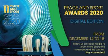 Secretaria de Estado nomeada para os prémios anuais da Peace and Sport