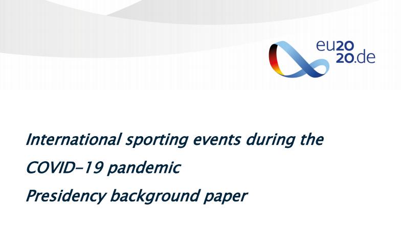 Reunião de Ministros do Desporto   Eventos Desportivos Internacionais em tempo de COVID-19