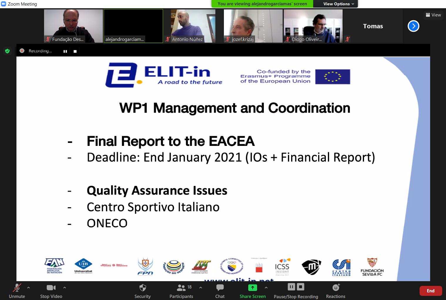 ELIT-in   Final Coordination Meeting